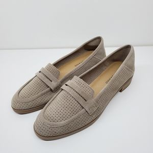 Lucky Brand 8.5 Caylon Suede Leather Loafer Tan